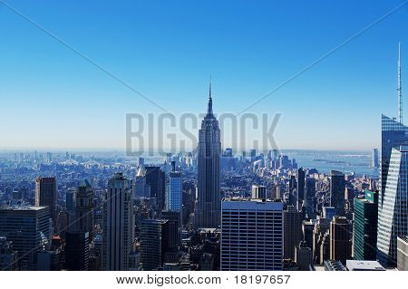 Manhattan views from Rockfeller center