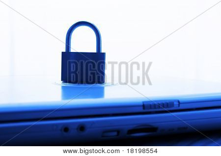 Notebook And Padlock
