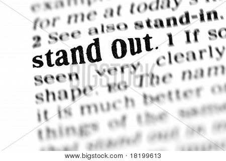 Stand Out (the Dictionary Project)
