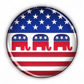 Republican Party Button