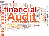 stock photo of financial audit  - Background concept wordcloud illustration of financial audit - JPG