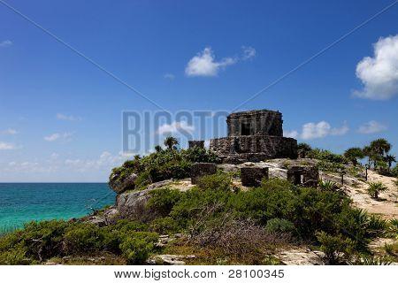 alten Maya-Stadt Ruinen Tulum, Yucatan, Mexiko