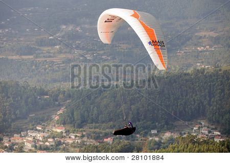 CALDELAS, PORTUGAL - OCTOBER 16: Paragliding Cross-country Portuguese League, in the north of Portugal, October 16, 2010, Caldelas, Portugal.