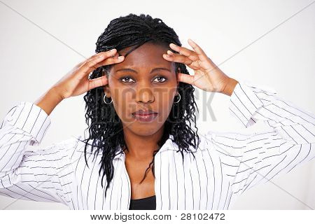 Woman With Stressed Expression