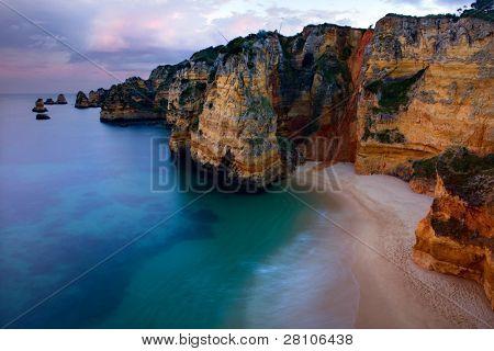 long exposure at the ocean in algarve, Portugal