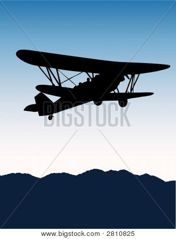 Old Airplane Vector