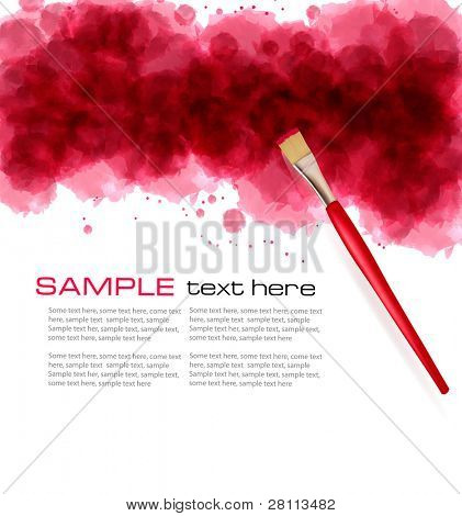 Abstract watercolor background. Raster version of vector.