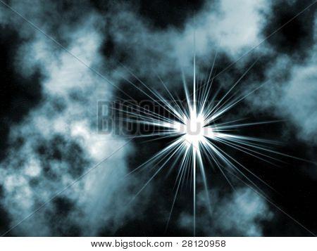 Raster Abbildung der Sterne, von mir in Photoshope gemacht.