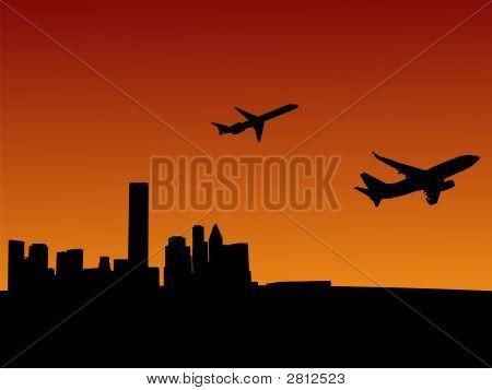 Flugzeuge verlassen Houston