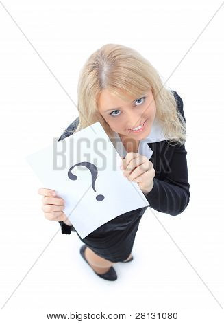 Unidentifiable business woman isolated on white
