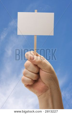 Blank Sign In Fist