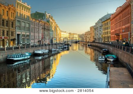 Channel At St.Petersburg