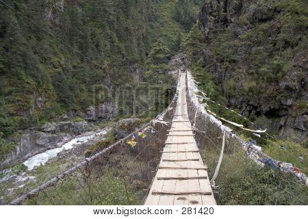 Long Suspension Bridge Nepal