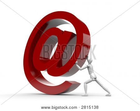 Man And Email Sign