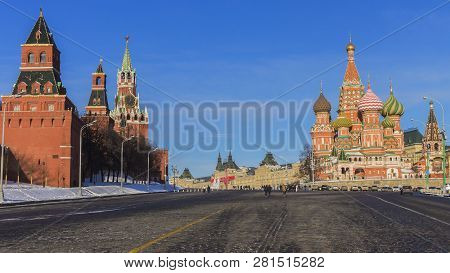 Moscow Russia Winter View Of