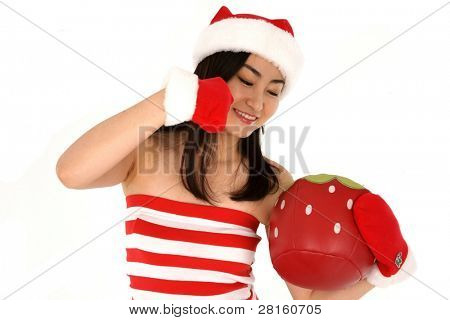 Santa hat Christmas Woman