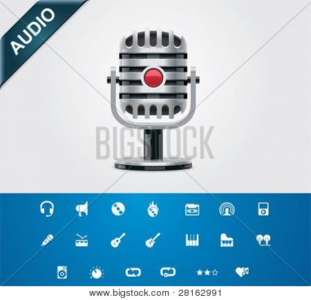 Universal glyphs 5. Audio and music set 2