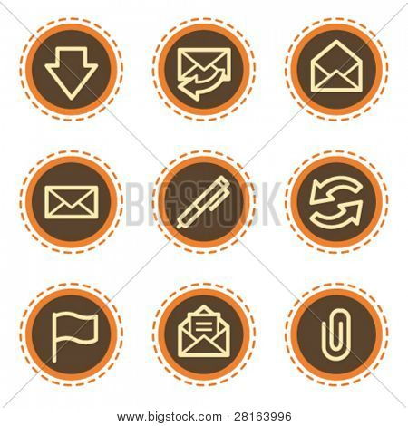 E-mail web icons, vintage buttons