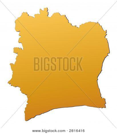Cote D'Ivoire Map