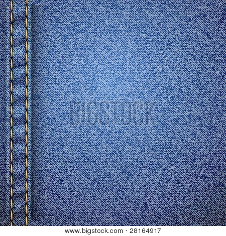 Realistic jeans texture pattern. Vector illustration.