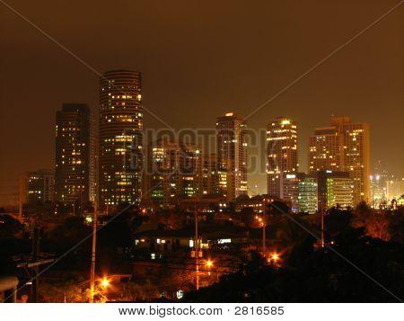 Rockwell Night Skyline