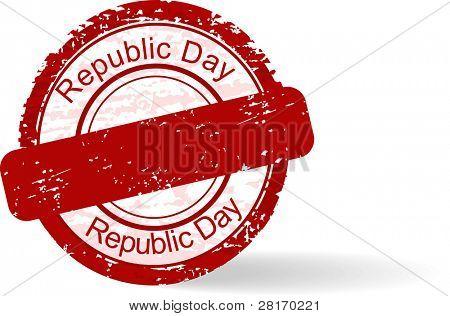 red Grunge Stempel der Tag der Republik auf weißem Hintergrund für Tag der Republik.