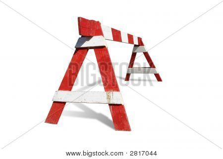 Wooden Construction Barrier