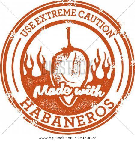 Habanero Pepper Stamp