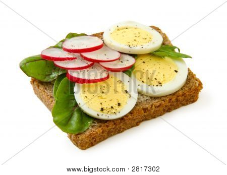 Egg Sandwich Isolated On White