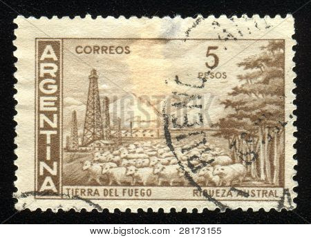 Vintage antique postage stamp from Argentina