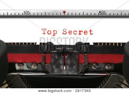 Typewriter Top Secret