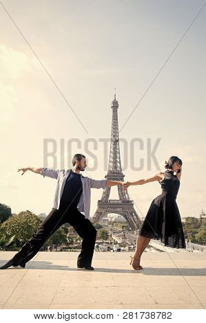 Dance Couple In Front Of