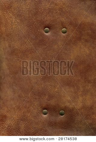HQ brown leather texture with rivet