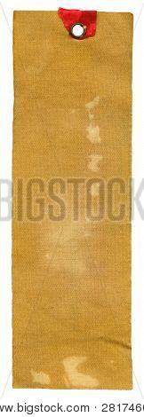 Textile prise label isolated on white background