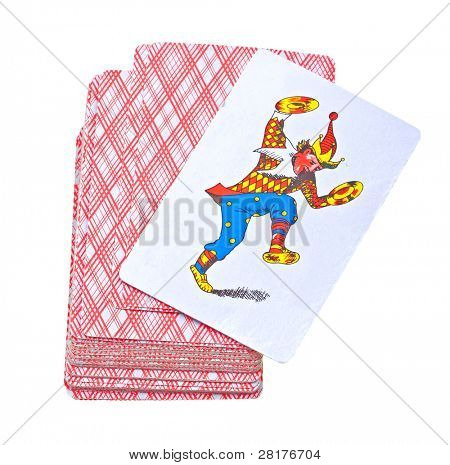Playing cards isolated on a white background