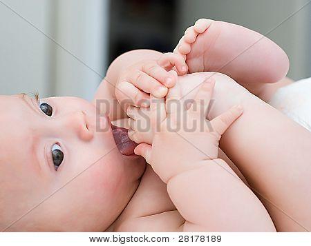 Porträt von niedlichen baby