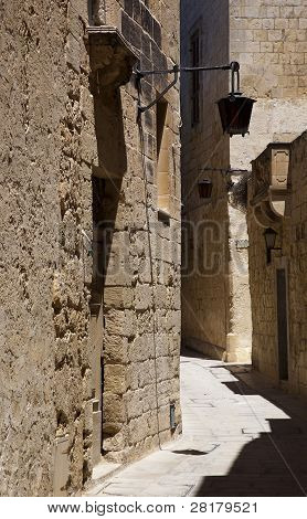 Street In The Ancient City Of Medina