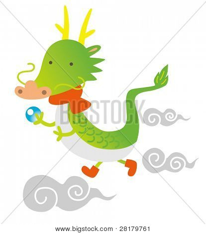 2012, the year of the dragon(zodiac), new year's greeting card design