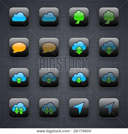 Ilustração em vetor de conjunto de ícones de aplicativos.