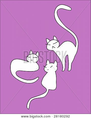 Funny animated cat set vector