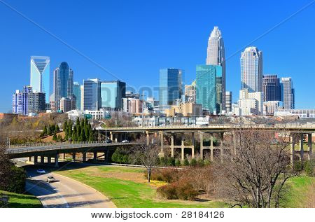 Skyline von uptown Charlotte, North Carolina.