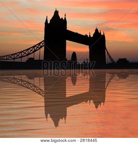 Tower Bridge At Sunset
