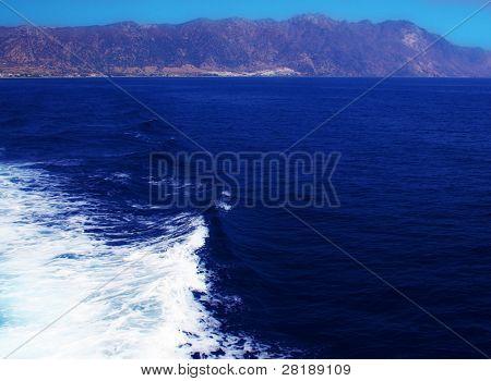 Grecian sea waves