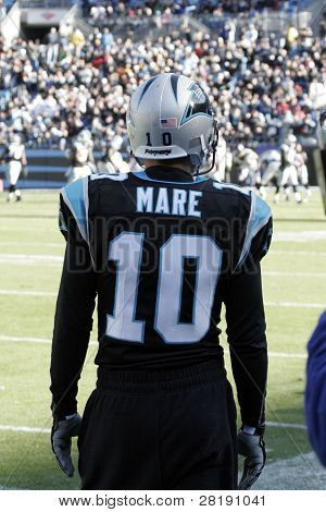 Back of Panthers kicker #10 Olindo Mare