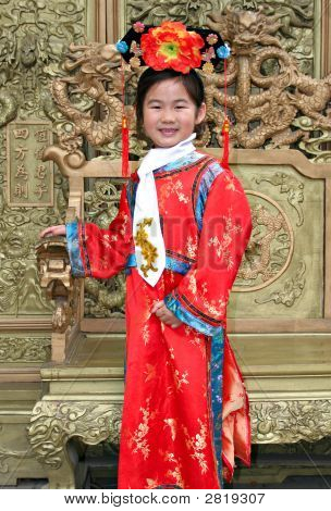 Little Girl In Traditional Chinese Costume
