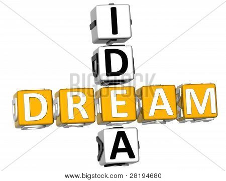 3D Dream Idea Crossword