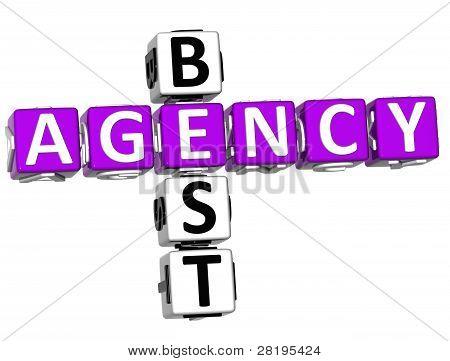 3D Best Agency Crossword