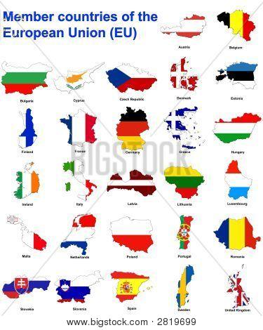 Eu Countries Flag Maps