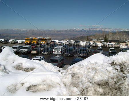 Parking Lot At Powderhorn