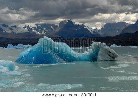 Iceberg In Lake Argentino Near Upsala Glacier.